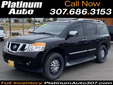2012 Nissan Armada for sale at Platinum Auto in Gillette WY