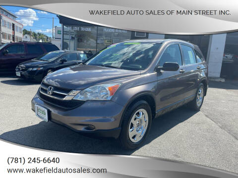 2010 Honda CR-V for sale at Wakefield Auto Sales of Main Street Inc. in Wakefield MA