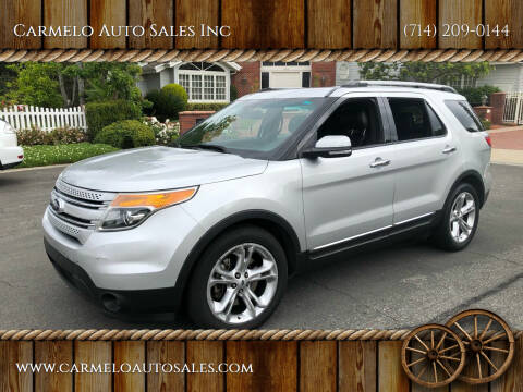 2013 Ford Explorer for sale at Carmelo Auto Sales Inc in Orange CA