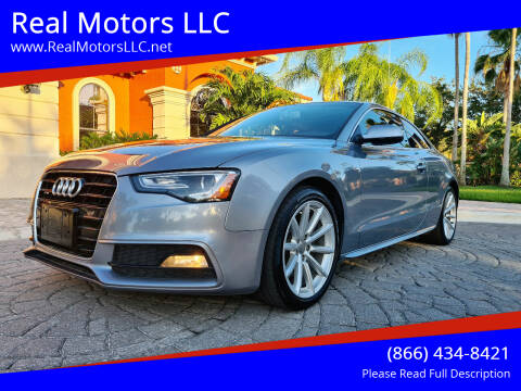 2015 Audi A5 for sale at Real Motors LLC in Clearwater FL