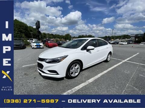 2018 Chevrolet Cruze for sale at Impex Auto Sales in Greensboro NC