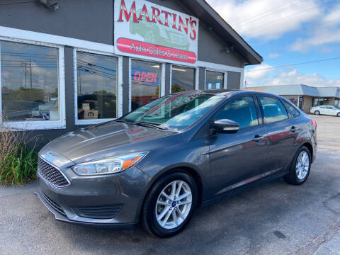 2015 Ford Focus for sale at Martins Auto Sales in Shelbyville KY