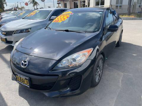2012 Mazda MAZDA3 for sale at Soledad Auto Sales in Soledad CA