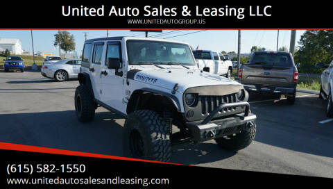 2015 Jeep Wrangler Unlimited for sale at United Auto Sales & Leasing LLC in La Vergne TN