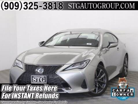 2019 Lexus RC 300 for sale at STG Auto Group in Montclair CA