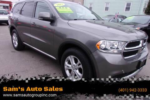 2012 Dodge Durango for sale at Sam's Auto Sales in Cranston RI