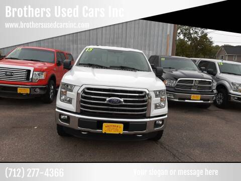 2015 Ford F-150 for sale at Brothers Used Cars Inc in Sioux City IA