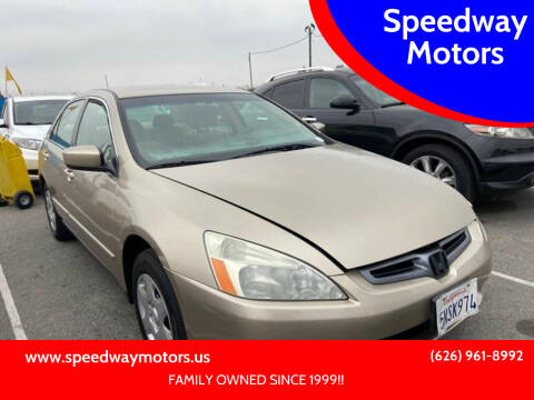 2005 Honda Accord for sale at Speedway Motors in Glendora CA