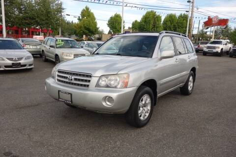 2002 Toyota Highlander for sale at Leavitt Auto Sales and Used Car City in Everett WA