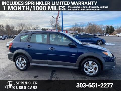 2004 Pontiac Vibe for sale at Sprinkler Used Cars in Longmont CO