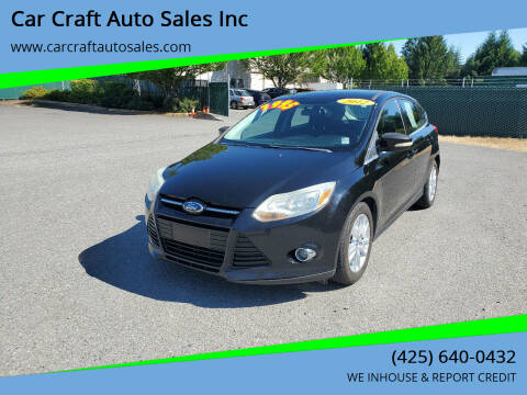 2012 Ford Focus for sale at Car Craft Auto Sales Inc in Lynnwood WA