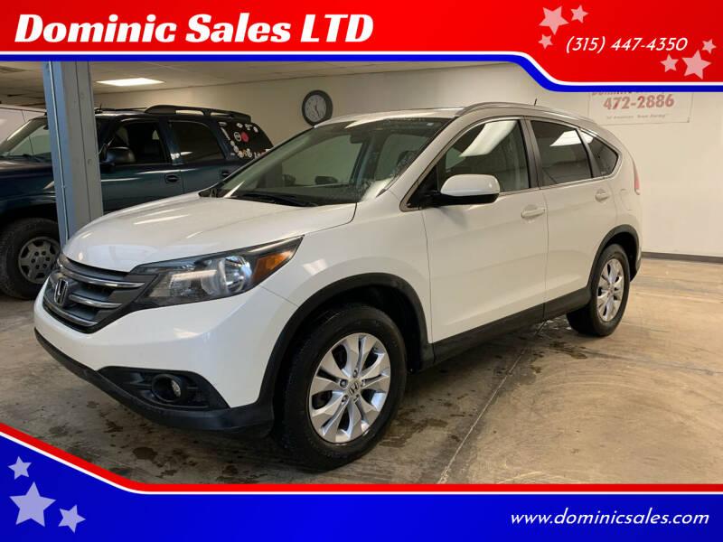 2012 Honda CR-V for sale at Dominic Sales LTD in Syracuse NY