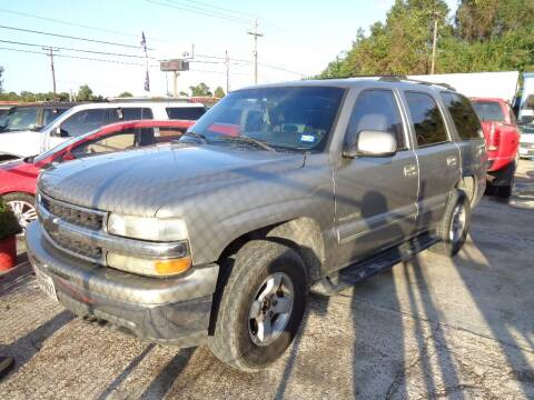 2001 Chevrolet Tahoe for sale at SCOTT HARRISON MOTOR CO in Houston TX