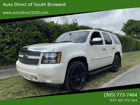 2010 Chevrolet Tahoe for sale at Auto Direct of South Broward in Miramar FL