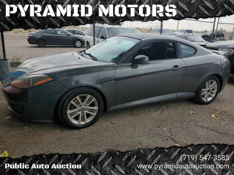 2007 Hyundai Tiburon for sale at PYRAMID MOTORS - Pueblo Lot in Pueblo CO