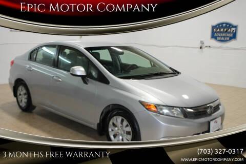 2012 Honda Civic for sale at Epic Motor Company in Chantilly VA
