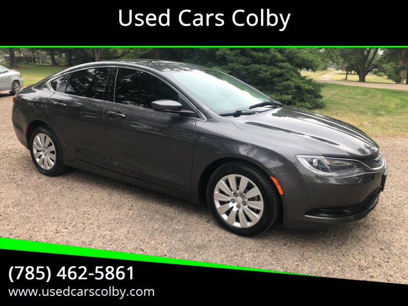 2015 Chrysler 200 for sale at Used Cars Colby in Colby KS