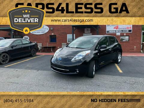 2012 Nissan LEAF for sale at Cars4Less GA in Alpharetta GA