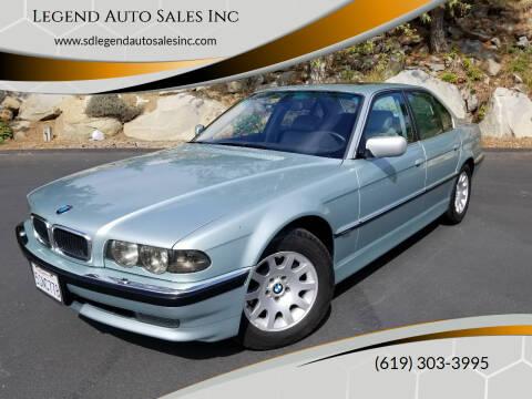 2001 BMW 7 Series for sale at Legend Auto Sales Inc in Lemon Grove CA