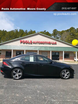 2018 Lexus IS 300 for sale at Poole Automotive -Moore County in Aberdeen NC