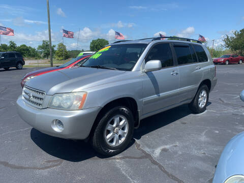 2003 Toyota Highlander for sale at Doug White's Auto Wholesale Mart in Newton NC