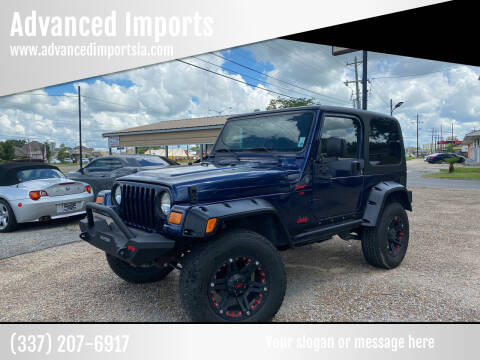 2004 Jeep Wrangler for sale at Advanced Imports in Lafayette LA