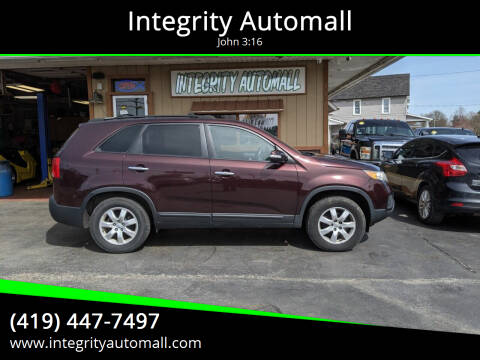 2012 Kia Sorento for sale at Integrity Automall in Tiffin OH