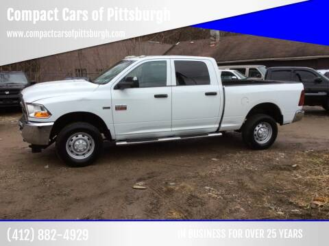 2012 RAM Ram Pickup 2500 for sale at Compact Cars of Pittsburgh in Pittsburgh PA