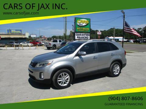 2015 Kia Sorento for sale at CARS OF JAX INC. in Jacksonville FL