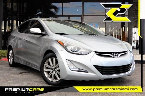 2015 Hyundai Elantra for sale at Premium Cars of Miami in Miami FL