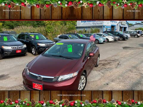 2012 Honda Civic for sale at Bridge Road Auto in Salisbury MA