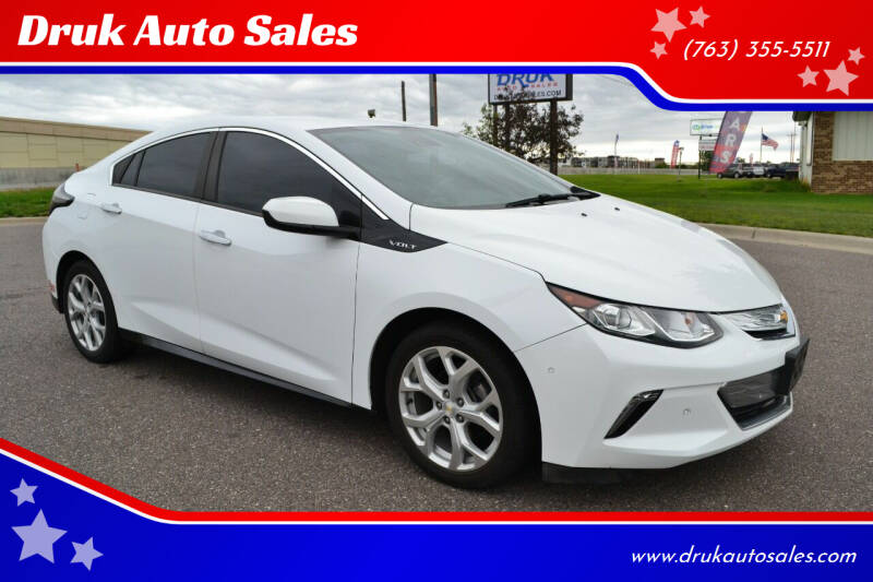 2017 Chevrolet Volt for sale at Druk Auto Sales in Ramsey MN