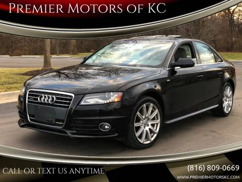 2012 Audi A4 for sale at Premier Motors of KC in Kansas City MO