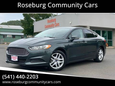 2015 Ford Fusion for sale at Roseburg Community Cars in Roseburg OR