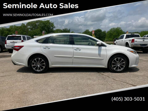 2017 Toyota Avalon for sale at Seminole Auto Sales in Seminole OK