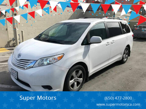 2015 Toyota Sienna for sale at Super Motors in San Mateo CA