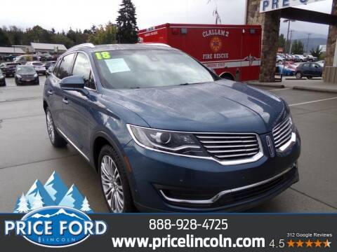 2018 Lincoln MKX for sale at Price Ford Lincoln in Port Angeles WA