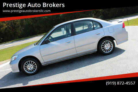 2005 Honda Civic for sale at Prestige Auto Brokers in Raleigh NC