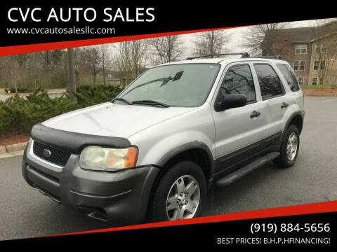 2004 Ford Escape for sale at CVC AUTO SALES in Durham NC