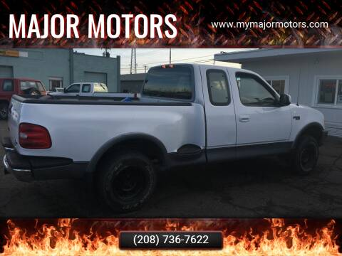 1997 Ford F-150 for sale at Major Motors in Twin Falls ID