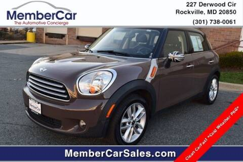 2012 MINI Cooper Countryman for sale at MemberCar in Rockville MD