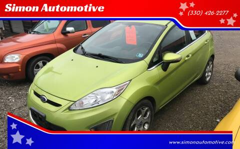 2011 Ford Fiesta for sale at Simon Automotive in East Palestine OH