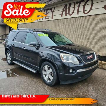 2010 GMC Acadia for sale at Harvey Auto Sales, LLC. in Flint MI