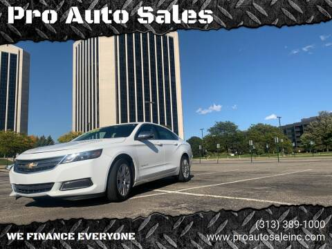 2016 Chevrolet Impala for sale at Pro Auto Sales in Lincoln Park MI
