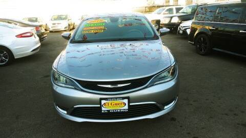 2015 Chrysler 200 for sale at El Guero Auto Sale in Hawthorne CA