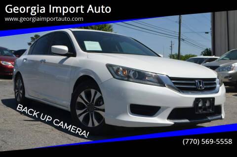2013 Honda Accord for sale at Georgia Import Auto in Alpharetta GA