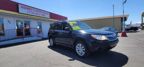 2011 Subaru Forester for sale at Henry's Autosales, LLC in Reno NV