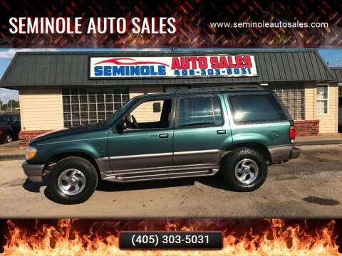 1997 Mercury Mountaineer for sale at Seminole Auto Sales in Seminole OK