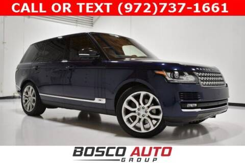 2016 Land Rover Range Rover for sale at Bosco Auto Group in Flower Mound TX