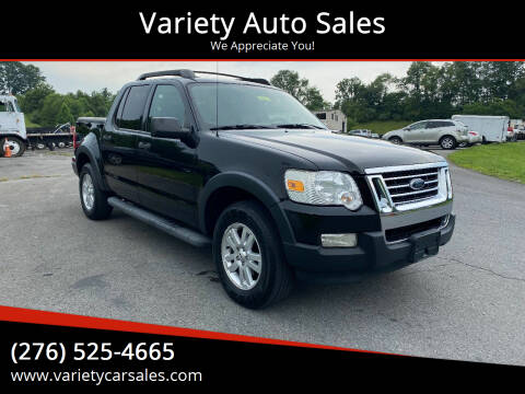 2008 Ford Explorer Sport Trac for sale at Variety Auto Sales in Abingdon VA